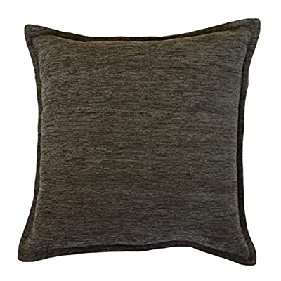 McAlister Textiles Plain Chenille Pillow Cover | Charcoal Gray Soft Woven Plain Decorative Decor Throw Cushion Sham | Size - 16 x 16 Inches - ❖DESIGN❖ These double side plain solid cushions are made from a soft woven chenille fabric, available in 10 colorways ❖HEAVY & DURABLE❖ Our pillow covers are handcrafted using robust interwoven cotton blend with a visible threaded texture. Measures 16 x 16 Inches (40x40cm) and comes with a robust hidden zipper that keeps the filling pad inside. Soft, comfortable, machine washable and durable. Composition 34% polyester, 24% cotton & 42% acrylic. ❖UNFILLED CUSHION COVER❖ This pillow cover does NOT include a filler pad. You can personalize the softness of your pillow by adding polyester, feather, wool, or cotton filling. - living-room-soft-furnishings, living-room, decorative-pillows - 51GcafOYd3L. SS400  -