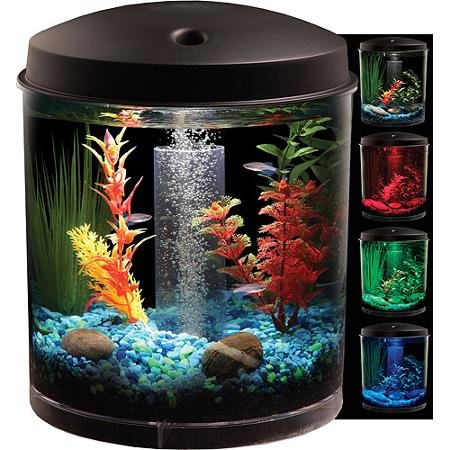 Hawkeye Generous 2 Gallon 360 Starter Aquarium Kit with LED Lighting
