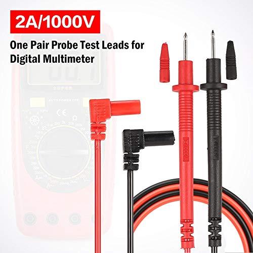 Negro y rojo Mult/ímetro digital Puntas de prueba de la sonda universal Cable Pin Punta de la aguja Medidor mult/ímetro Medidor de prueba Pluma de prueba 2A 1000V CATⅡ 1 par