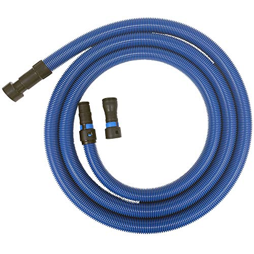 Cen-Tec Systems 94434 Antistatic Wet/Dry Vacuum Hose for Shop Vacs with Universal Power Tool Adapter Set, 16 Ft, Blue