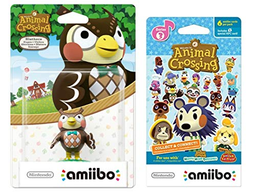 Blathers Amiibo (Animal Crossing Series) for Nintendo Switch - WiiU, 3DS Bonus 1-Pack (6 Cards/Pack) (Bundle) (Mario And Sonic At The Olympic Games Characters)