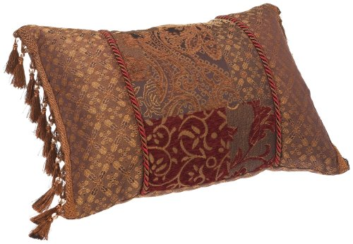 Croscill Galleria Boudoir Pillow, 20-inch by 15-inch, Red ()