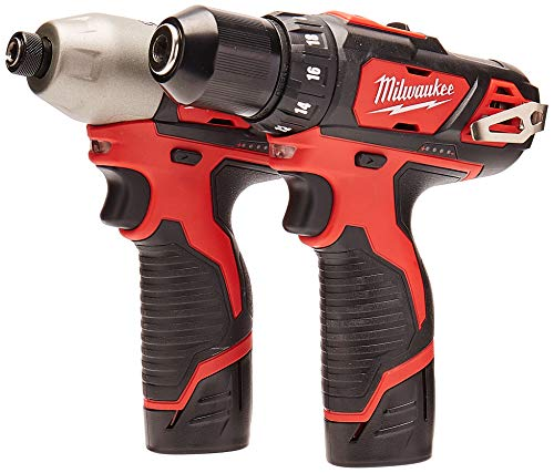 "Milwaukee 2494-22 M12 Cordless Combination 3/8"" Drill / Driver and 1/4"