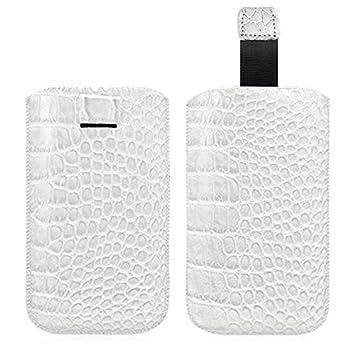 Seluxion - Carcasa con tirador estilo cocodrilo color blanco ...