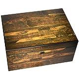 100-Cigar Reclaimed Wood Design with Hygrometer, Matte