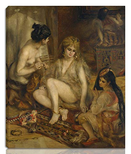 Parisiennes In Algerian Costumes Or Harem - Berkin Arts Auguste Pierre Renoir Stretched