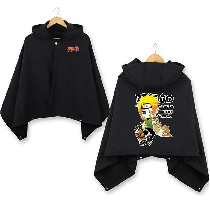 Cosstars Naruto Anime Cloak Sudaderas con Capucha Cosplay Disfraz Hoodie Cape Abrigo Poncho Chaqueta Negro 2: Amazon.es: Ropa y accesorios
