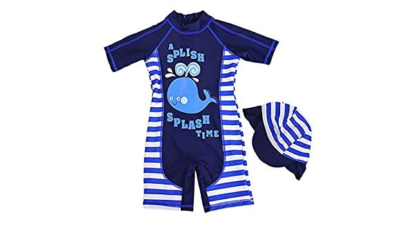 One Piece Swimsuits Rash Guard Shirt Protective Sun Suit with Cap UPF50+ AIWUHE Children Swimsuit Bathing Suit