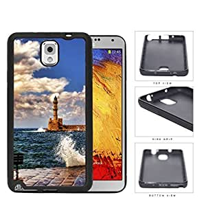 Seaside Lighthouse With Water Splashing View Rubber Silicone TPU Cell Phone Case Samsung Galaxy Note 3 III N9000 N9002 N9005
