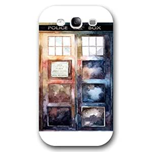 UniqueBox - Customized White Frosted Samsung Galaxy S3 Case, Doctor Who Tardis Blue Police Call Box Samsung S3 case, Only fit Samsung Galaxy S3