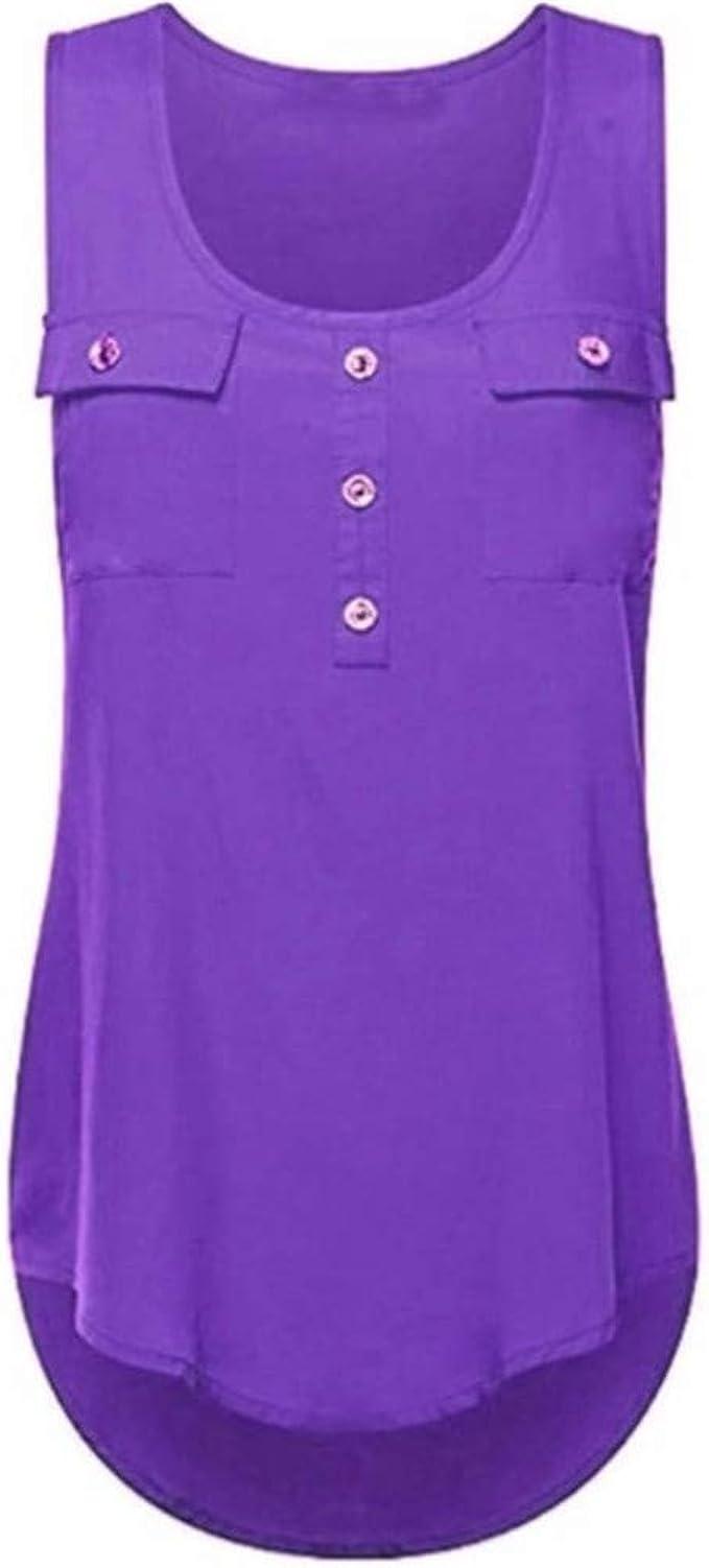 Damen Batik T-Shirts Tank Top Freizeit Locker Ärmellose Bluse Weste Übergröße