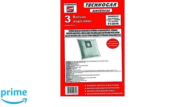 Tecnhogar 912645 Bolsa aspirador, Blanco: Amazon.es: Hogar