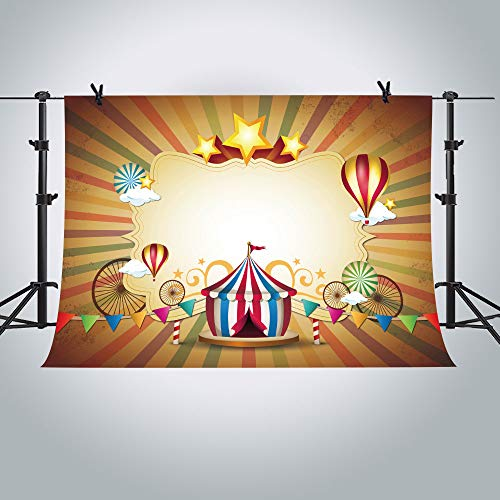 Circus Background MTMETY 10X7ft Backdrop for Children Themed First Birthday Photo Booth Props ME302 -