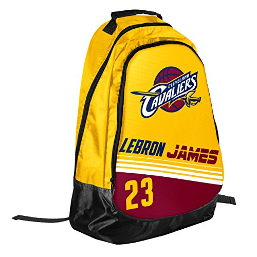 Forever Collectibles Cleveland Cavaliers Team Color Striped Core Backpack - Lebron James #23 by Forever Collectibles