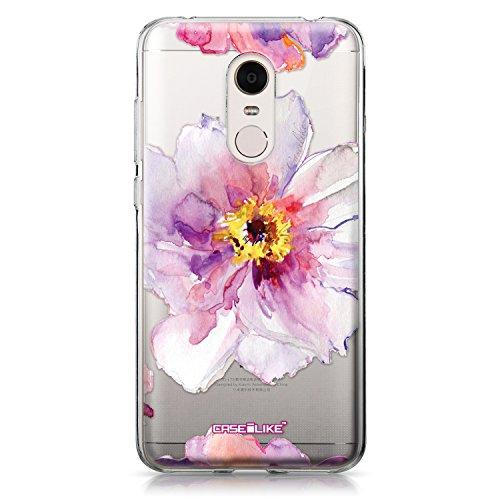 CASEiLIKE Funda Redmi Note 4 , Carcasa Xiaomi Redmi Note 4, Arte de la mandala 2094, TPU Gel silicone protectora cover Acuarela floral 2231