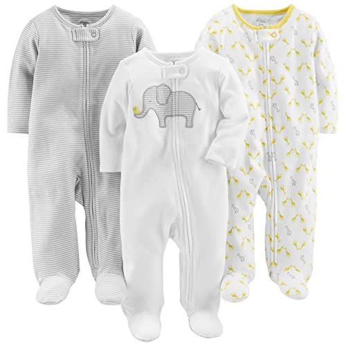 Simple Joys by Carter's Baby 3-Pack Cotton Footed Sleep...