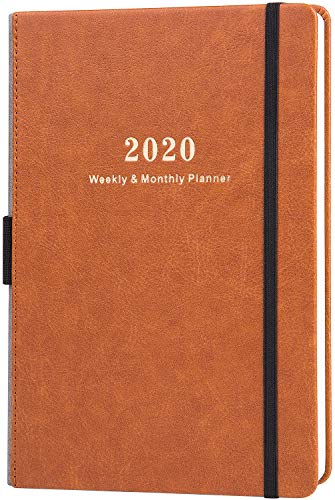 "2020 Planner - Weekly & Monthly Planner with Calendar Stickers, 5.75"" X 8.25"", A5 Premium Thicker Paper with Pen Holder, Inner Pocket and 88 Notes Pages"