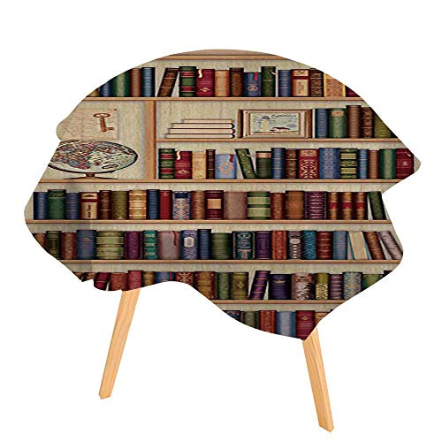 PINAFORE Indoor/Outdoor Tablecloth Blur Image of a Bookstore Available in Many Different Sizes and Colorways 40