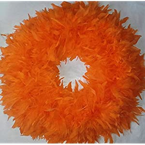 Christmas Wreaths - Beautiful & Fluffy Orange Feather Wreaths - In Stock & Ready to Ship ! … 19