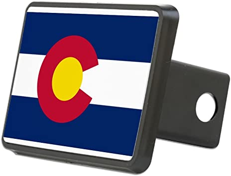 CafePress Vintage Flag of Colorado Trailer Hitch Cover Truck Receiver Hitch Plug Insert