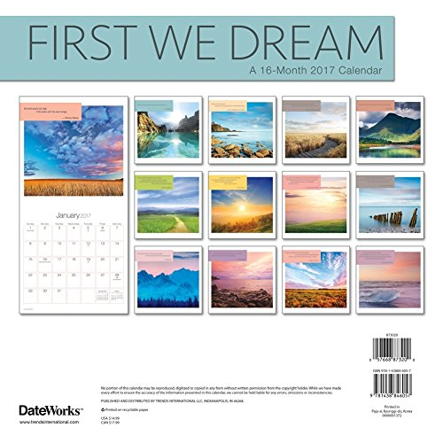 First We Dream Wall Calendar