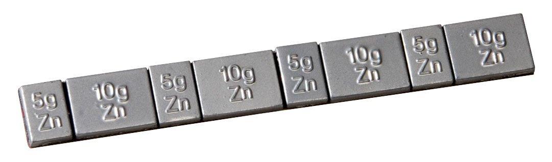 KS Tools 100.4126 Masse d é quilibrage jante alu en zinc Barrette 4 x 5 g et 4 x 10 g Boite de 50 piè ces