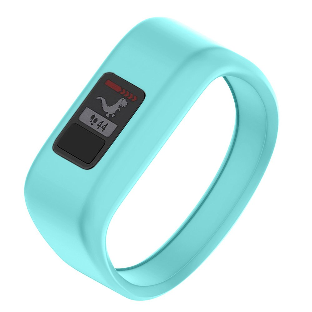 NotoCity Compatible with Garmin Vivofit JR/JR 2/3 Bands,Soft Silicone Replacement Watch Bands for Boy Girls Kids,Mint Large by NotoCity