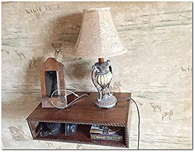 Nightstand,All Cedar Wood,made in USA, Floating bedside table,wall mounted night stand