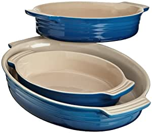 Le Creuset Stoneware Classic Oval Dish, Marseille, Set of 3