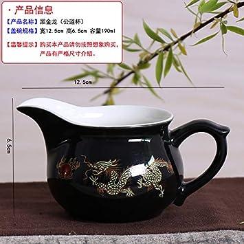 Tea Cup Tea Cup sea Tea Special Bowl Ceramic Set of teapot Yixing Purple Sand Wholesale,Black Gold Dragon 15 Heads. GBCJ Tea Sets Black Gold Dragon Kung Fu Tea Set