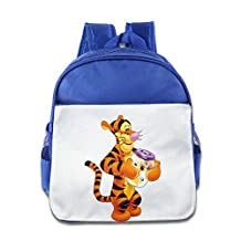 Lovely Baby Transparent Tigger The Cartoon Show Kids Children RoyalBlue School Bagpack Bag For 1-6 Years Old