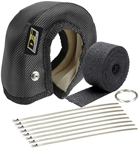 (Design Engineering 010182 T4 ONYX Series Turbo Shield Kit with Exhaust Wrap, Stainless Steel Zip Ties, and Fastening)