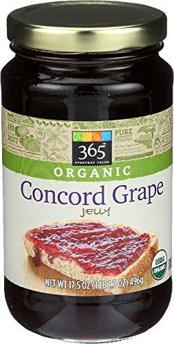 365 Everyday Value, Organic Concorde Grape Jelly, 17.5 oz