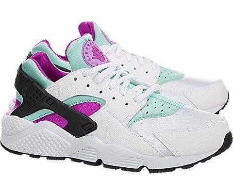 5cb82bfbe088 Nike Women s Air Huarache Run - White   Artisan Teal-Fuchsia Glow-Fuchsia  Flash