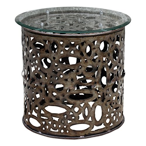 24 in. Industrial Accent Table