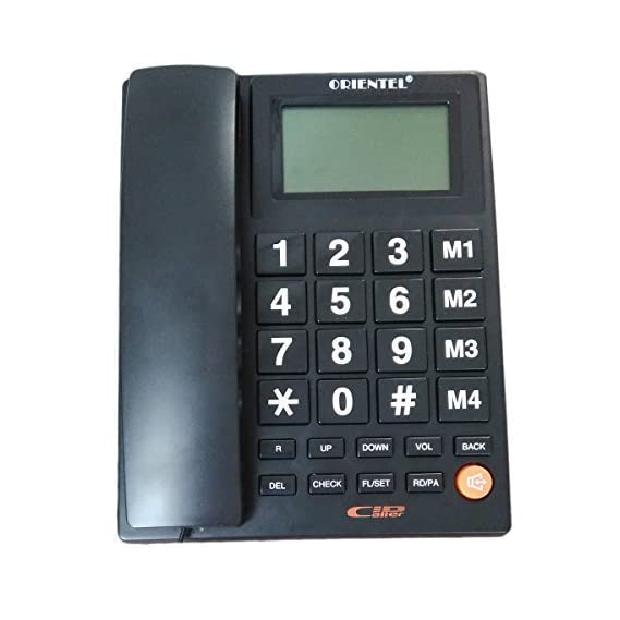 Glive Landline Caller ID Phone Telephone Corded Phone Purpose Bfone Orientel KX-T1599CID for Home