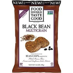 Food Should Taste Good Multigrain Bean Chips, Black, 5.5 Ounce