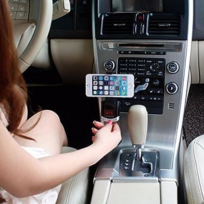 Welcomeuni Wireless Bluetooth LCD MP3 Player Car Kit SD MMC USB FM Transmitter Modulator