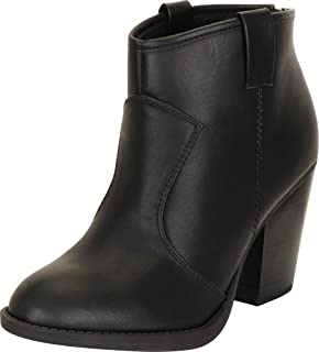 c0c2da7d020d7 Cambridge Select Women's Western Chunky Stacked Block Heel Ankle Bootie