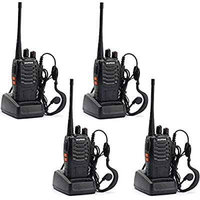 BaoFeng 4pcs Baofeng 888s Walkie Talkie with Built in LED Torch (Pack of 4)