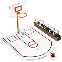 Game Night Crystal Clear Shot Glass Basketball Bar Game Set