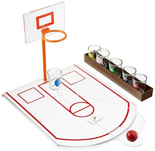 Bar Basketball - Crystal Clear Shot Glass Basketball Bar Game Set