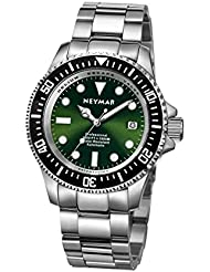 NEYMAR 44mm Automatic watch 1000m Dive stainless steel Green face 500m watch