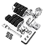 ISO Large Dually Highway Pegs with Offset Mounts and 1-1/4'' Magnum Quick Clamps