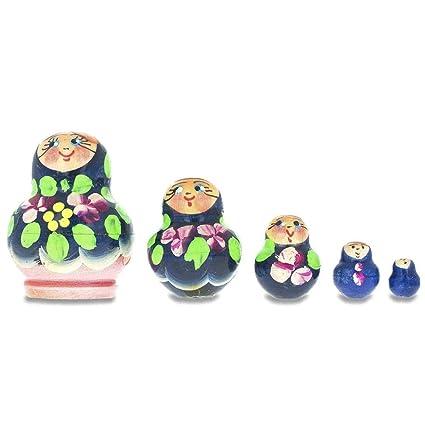 Amazon.com: BestPysanky Set of 5 Miniature Russian Blue ...