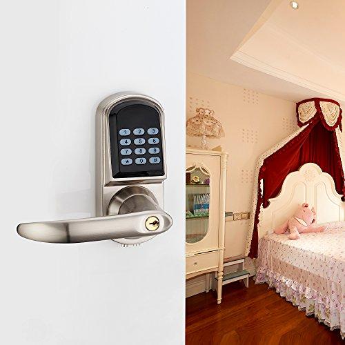 Haifuan left hand electronic keyless code door lock unlock for Door unlock service