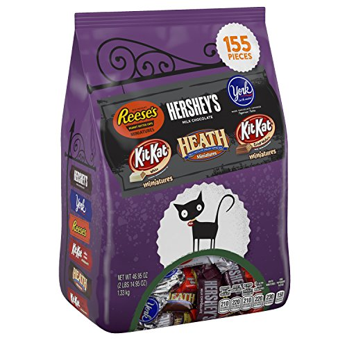HERSHEY'S Halloween Snack Size Assortment (46.95-Ounce Bag, 155 Pieces) -