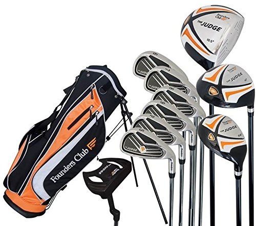 The Judge Founders Club Complete Golf Set with Graphite Regular Flex Shafts and Stand ()