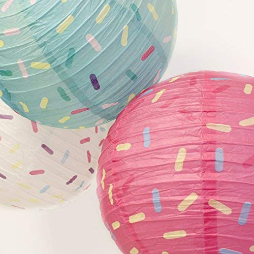 Just Artifacts 12inch Hanging Paper Lanterns (Sprinkles Pattern, 3pcs) by Just Artifacts (Image #4)'