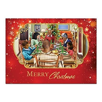 african american expressions family christmas dinnermerry christmas boxed christmas cards 15 cards